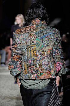 Haider Ackermann 2011 menswear -embroidery