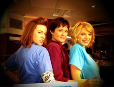 Niamh McGrady (Mary-Claire), Catherine Russell (Serena) and Ty Glaser (Gemma). Via @MrJulesKnight on Twitter.