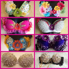 SAMPLE SALE EDC Custom Rave Bra by PrettyGirlDancewear on Etsy, $70.00
