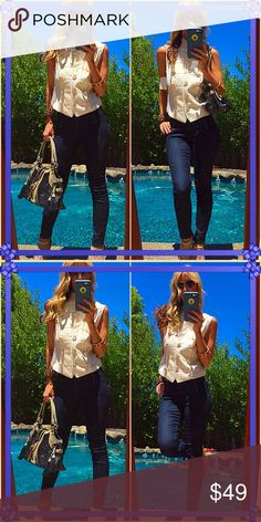 Living Okay so I need my wild side ladies for this styling bold fun wild piece!. So fun with jeans and fun shoe and arm candy!. Just different and I love to play and be different with fashion people admire it and this is why! Let yourself fly in this NWT vest!. Dani Micheal Tops
