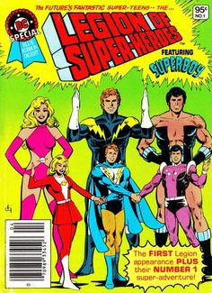 """""""DC Special Blue Ribbon Digest"""" is a second collection of big little reprint comics in the 80s. NEW! Dick Giordano cover. OLD! """"247"""" is a magic number; besides the debut in """"Adventure"""" 247 and their first (and most critical) stories, new """"LSH"""" adventures now take place on Earth-247. The Crisis was not about different Earths, it was about different people!"""