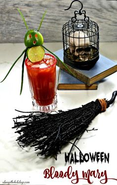 Garnish your Bloody Mary Cocktail for Halloween with a whimsical lime devil garnish instead of the traditional stalk of celery. The drink is slightly spicy with a bit of a kick. Get the recipe on Always the Holidays #bloodymarycocktail #halloweencocktail #halloweendrinks #spookydrinks Bloody Mary Cocktail Recipe, Cocktail Recipes, Halloween Cocktails, Craft Cocktails, Best Shakes, Fresh Lime Juice, Holiday Recipes, Devil