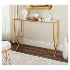 Princess Console Table - Gold/Mirror - Safavieh : Target