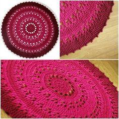 Helena pesa: Heegeldatud vaip...Crocheted rug