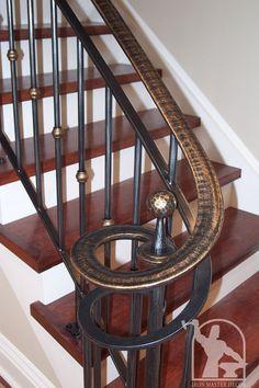 wrought iron railings interior | Interior Railings