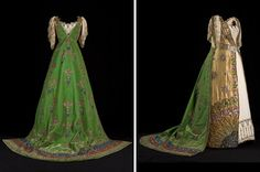 Louise, Duchess of Devonshire's 'Queen of Zenobia' Ball Gown for the Devonshire House Ball by House of Worth, 1897 Paris, worn in England. The dress was made for Louise, Duchess of Devonshire by the House of Worth to wear at the celebrated Diamond Jubilee Ball at Devonshire House. Louise attended as Queen Zenobia, the warrior Queen of Palmyra. The Duchess may have got the idea for the theme of the dress from Inigo Jones's costume designs for Court Masques that are on display at Chatsworth.