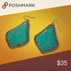 Turquoise Alex's! They're the smaller size Alex's, not the Alexandra's. They are in great condition. I've barely worn since I bought them! Kendra Scott Jewelry Earrings