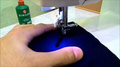 Costurando tecidos finos e malhas em máquinas de costura zig-zag