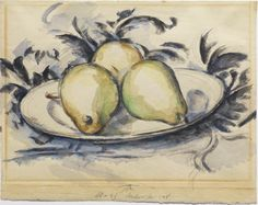 Paul Cézanne (French, 1839-1906); Three pears, 1890