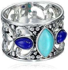 Sterling Silver Simulated Turquoise and Lapis Filigree Ring, Size 7 Amazon Collection http://www.amazon.com/dp/B004JZWXV6/ref=cm_sw_r_pi_dp_GB2Lvb0SFKQWS