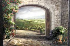 Italian, Tuscany Landscape   Paint with Kevin Hill