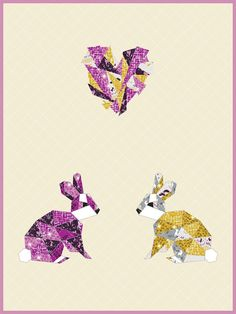 """Love Hoppington - Orchid - quilt by Violet Craft   /36""""x48"""""""