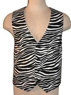 Men's Zebra  Print Vest! Rock 'n Roll weddings <3