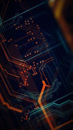 Circuit Digital Art HD Mobile, Smartphone and PC, Desktop, Laptop wallpaper (. Phone Screen Wallpaper, Neon Wallpaper, Cellphone Wallpaper, Mobile Wallpaper, Wallpaper Backgrounds, Wallpaper Keren, Oneplus Wallpapers, Hacker Wallpaper, Tech Background