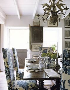 Look for other opportunities to inject pattern in your decor like lampshades or chairs.