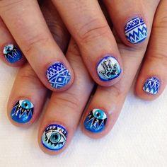 #hamsa & all seeing eye #nail #art | AstroWifey