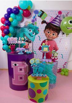 Baby Girl Birthday Theme, Boys 1st Birthday Party Ideas, Girl Birthday Decorations, First Birthday Parties, First Birthdays, Monster 1st Birthdays, Monster Inc Party, Monster Birthday Parties, Monsters Inc Decorations