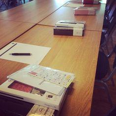 Alt klart til første Classroom-kurs  #hobbykunst #beckyhigginsnorway #connieshobbykunst