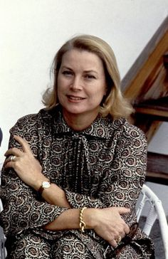 Princess Grace during a family vacation at their chalet in Gstaad, Switzerland. February 14, 1979.