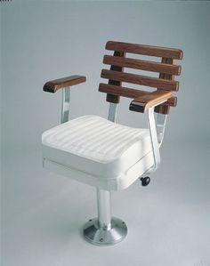 Merveilleux Boat Helm Seat (teak) T3745000 Pompanette