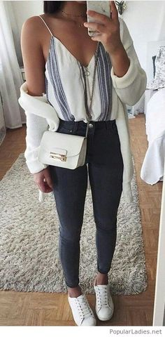 Nice everyday look, top, jeans, cardi and more