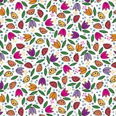 Ladybugs A' Tiptoein' fabric by sammyk on Spoonflower - custom fabric