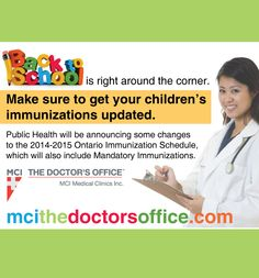 Get your children's Immunizations up to date. Doctor Office, Public Health, Your Child, Clinic, Back To School, You Got This, Medical, How To Get, Entering School