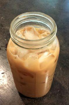 Shrinker: Steep 4 Oolong tea bags in a mug; put in blender w/ 1/2 c 30 calorie almond milk, pinch salt, 2 tsp vanilla, stevia to taste, 2 tsp cinnamon & cayenne pepper to taste. Put in 2 qt jar & add to fill.  Enjoy!