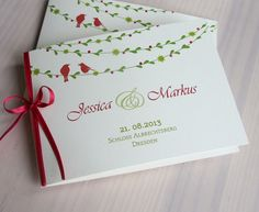 """Einladungskarten - Hochzeitseinladung """"Vogelhochzeit"""" - ein Designerstück von moments bei DaWanda"""