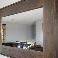 how to hang a frameless mirror on drywall without mirror. Black Bedroom Furniture Sets. Home Design Ideas