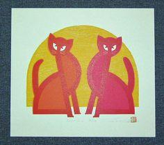 TADASHIGE NISHIDA Japanese Woodblock Print POSE (16) R | eBay