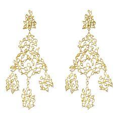 H.Stern 18k Gold & Diamond 'Girandole' Chandelier Earrings
