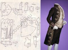 Discover recipes, home ideas, style inspiration and other ideas to try. Barbie Patterns, Costume Patterns, Coat Patterns, Doll Clothes Patterns, Clothing Patterns, Dress Patterns, Sewing Patterns, Historical Costume, Historical Clothing
