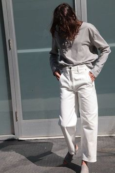 Lemaire White Twisted Pants