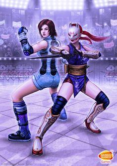 Asuka and Kunimitsu - Tekken Tag Tournament 2 by SEL2.deviantart.com on @deviantART