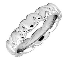 Simply Stacks Sterling 4.25mm Heart Ring
