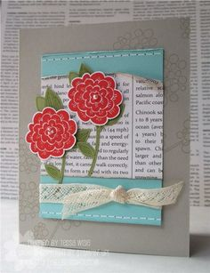 Love the crisp yet distressed look of this card by Tessa Wise.