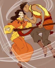 Older Kai and Jinora. Book Change, Avatar The Legend of Korra Avatar Aang, Avatar Airbender, Team Avatar, Avatar Disney, Avatar Fan Art, Fanart, Kai, Avatar Series, Korrasami