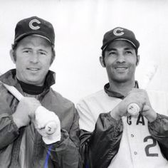 ron santo and billy williams, chicago cubs hall of famers