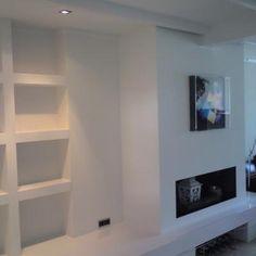Interieuradvies breda jaren 30 woning teteringen klein woonkamer pinterest interieur 3d - Deco moderne open haard ...