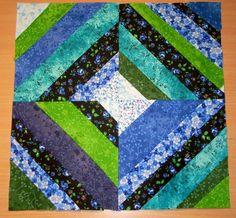 string quilt patterns | March BOM string Block Pattern