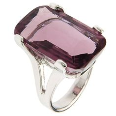 Violet Amethyst White Gold Cocktail Ring Modern | 1stdibs.com