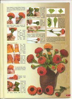 kwiaty z bibuły