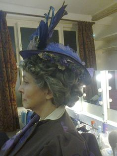 1890s Hat for  Lady Bracknell (Clare Howard) in 'The Importance of Being Earnest' at the Maddermarket Theatre, Norwich 2014