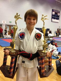 Jonathon Goff, Recommended 1st Degree Black Belt, walked away with 1st in patterns and sparring at the CTF Regional Tournament Aug. 18, 2012, in Olive Branch, MS.