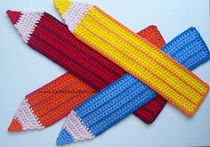 Pencil Bookmark: crochet pattern for purchase