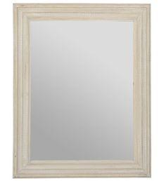 Miroir en bois de manguier patiné gris Jardin d'Ulysse