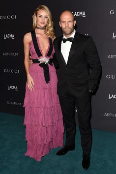Rosie Huntington-Whiteley and Jason Statham attend the LACMA 2015 Art+Film Gala