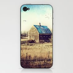 Interlude in Blue iPhone & iPod Skin by Laura George - $15.00