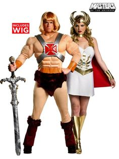 Striking Masters Of The Universe - He-Man Adult Costume. Best Collections of Superhero Costumes for Halloween at PartyBell. Superhero Halloween Costumes, Diy Costumes, Adult Costumes, Costume Ideas, Party Costumes, Halloween 2014, Halloween Party, He Man Costume, Man Party